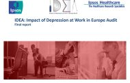 IDEA: Impact of Depression at Work in Europe Audit