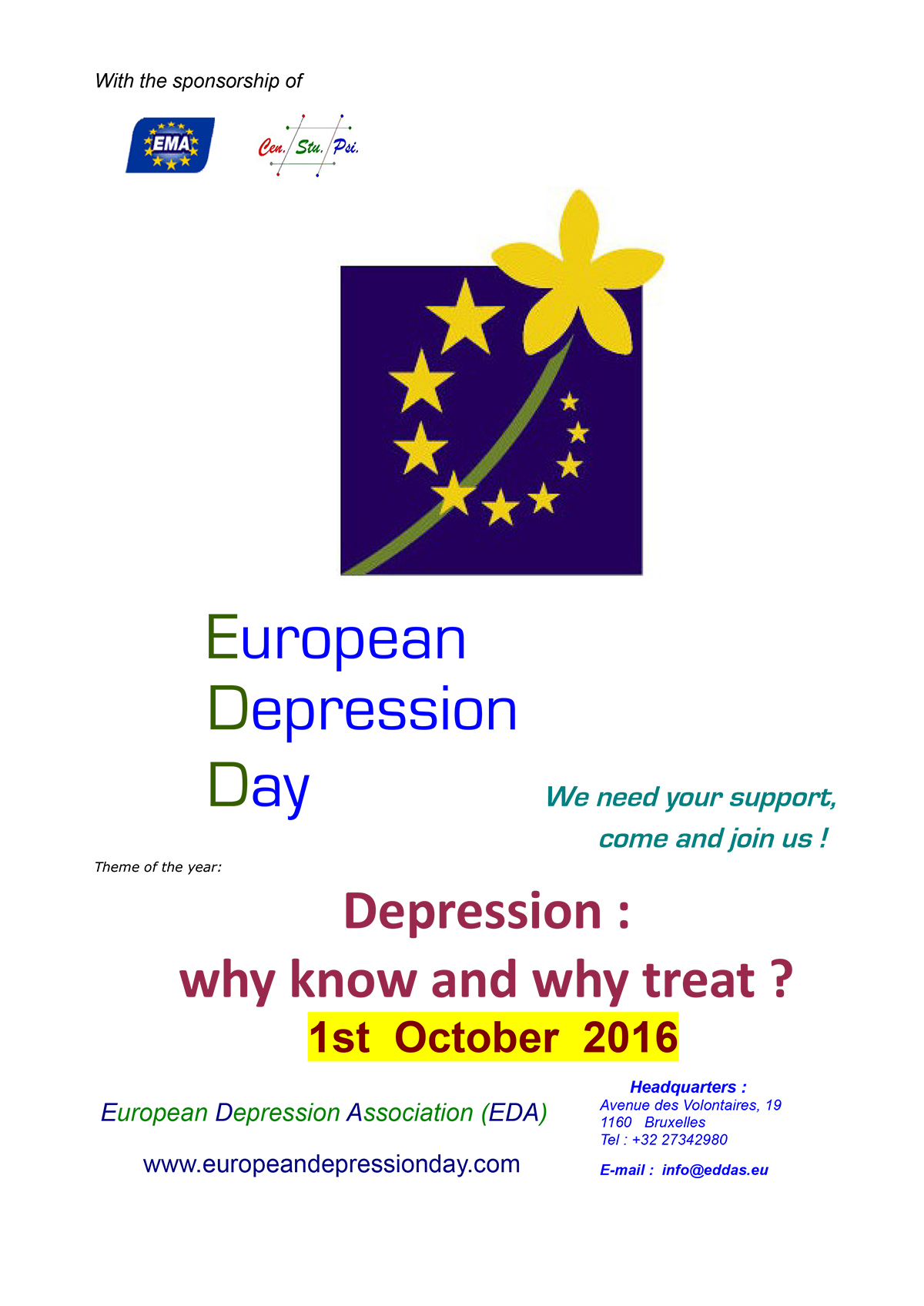 European Depression Day 2016